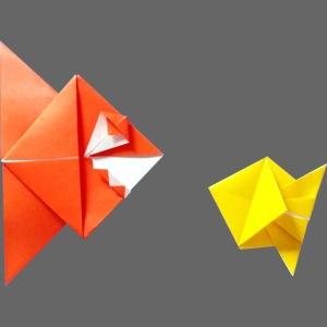 Origami Piranha and Fish - Poisson - Pesce - Peixe