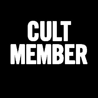 Weiß Kult-Mitglied -  - Mitglied,Kult,Humor