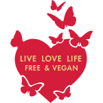 LIVE LOVE LIFE FREE VEGAN - vector