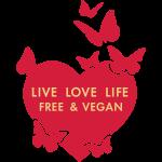 LIVE LOVE LIFE GRATIS VEGAN - vektor