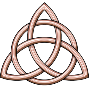 Keltisches Dreiheit-Knoten-glänzendes Rosen-Gold