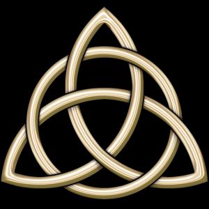 Keltisches Dreiheit-Knoten-glänzendes Gold
