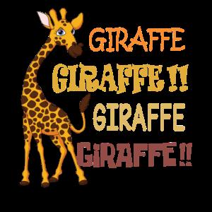 Lustiges Giraffen-Hemd
