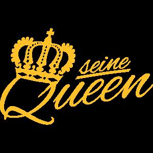 SEINE QUEEN ♚ Luxus Style Schriftzug (alle Farben)