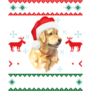 Merry Woofmas Golden Retriever Ugly Sweater X-Mas