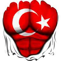 Türkei Flagge Gerippt Muskeln