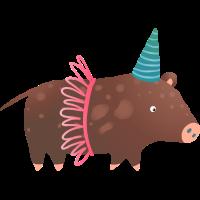 Geburtstag Schwein