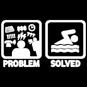 Lustiges Schwimmen-Problem gelöstes Hemd