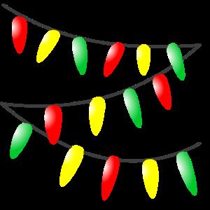 Weihnachtspullover - Lichterkette