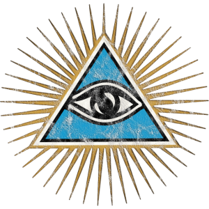 Allsehendes Auge, Dreieck, Pyramide, Vintage, Gott