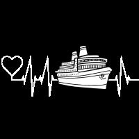 Kreuzfahrt Schiff, Kreuzfahrer Herzschlag-Geschenk