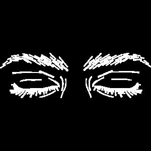 Grafik-Augen weiß