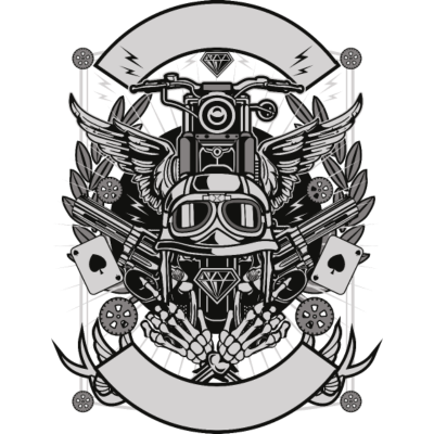Straßenaufstand -  - freedesigns17,Speed,Rock and Roll,Rock 'n' Roll,Rennrad,Rennmotorrad,Reiterin,Rebellisch,Rebellion,Racing,Motorsport,Motorradfahrer,Motorrad,Motor race,Graphic art,Gangster,Fahrer,FD200