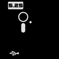 5,25 Zoll Diskette USB Nerd Geek