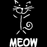 Miau Katze Zeichnung Strichzeichnung