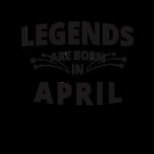 Legends Shirt - Legends are born in april