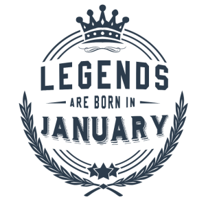 Legends Shirt - Legends are born in january