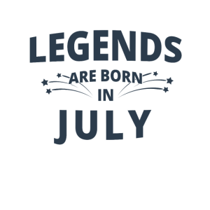 Legends Shirt - Legends are born in july