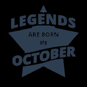 Legends Shirt - Legends are born in october