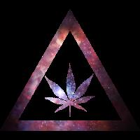 Galaxy Weed Cannabis Geometry Triangle