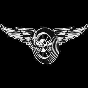 Rad mit Flügeln