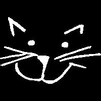 Katze Kopf Strichzeichnung
