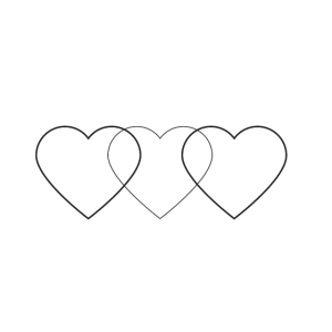 verflochtene Herzen