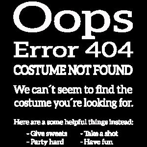 Error 404 Costume not found Fasching / Halloween