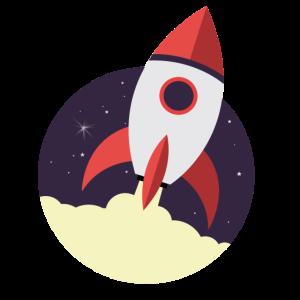 Raketenstart, Rakete, Weltraum