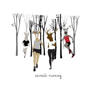 Groupe animals running