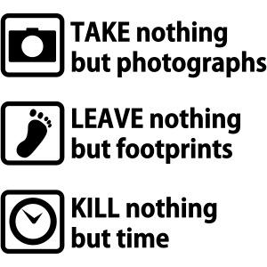 take nothing