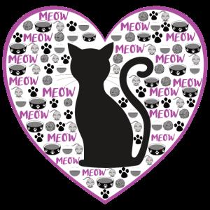 Die Katzenliebe - violett