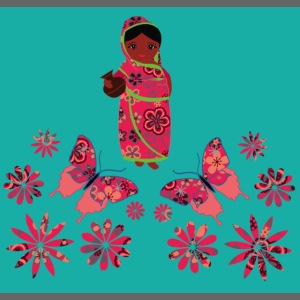 Lovedesh Art: Ira Kolshi Doll & Butterflies