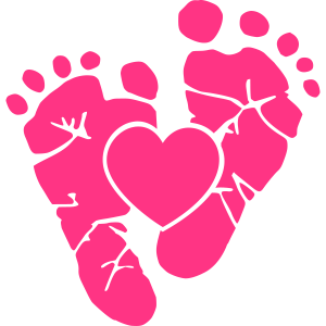 Baby Füße - Schwangerschaft - Geburt - Mutter-Herz