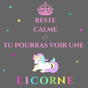 Reste calme licorne rose
