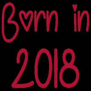 BORN IN 2018 Baby Geburt Geboren Eltern Nachwuchs