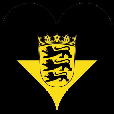Baden-Württemberg -  - Mannheim,Pforzheim,Heidelberg,Flagge,deutsch,Ulm,Baden Württemberg,Deutschland,Wappen,Württemberg,Fahne,Liebe,Herz,Stuttgart,Baden-Württemberg,Baden