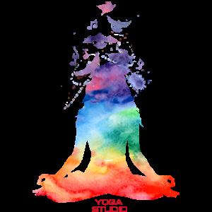 Yoga-Logo Wasserfarbe