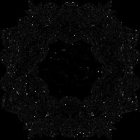 Mandala mit Om, handgezeichnet