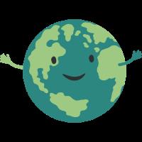 glückliche Erde