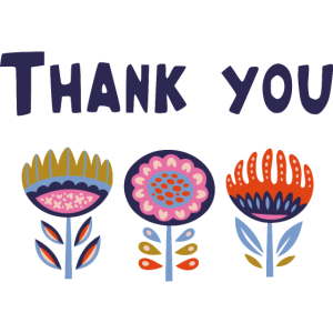 Blume danke