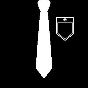 Hemd und Anzug mit Krawatte und Hemdtasche