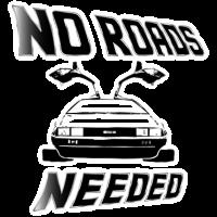 DeLorean keine Straßen benötigt