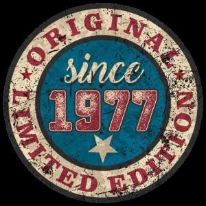 US Style since 1977 original limited edition RAHMENLOS Geburtstag