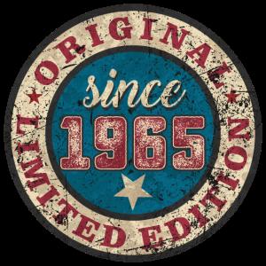 US Style since 1965 original limited edition RAHMENLOS Geburtstag