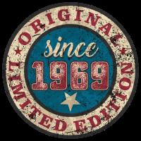 US Style since 1969 original limited edition RAHMENLOS Geburtstag