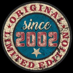 US Style since 2002 original limited edition RAHMENLOS Geburtstag