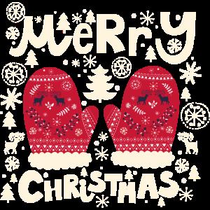 Frohe Weihnachten Handschuhe
