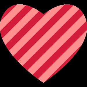Herz gestreift