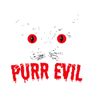 Purr Böse. Satanic Halloween-Katze